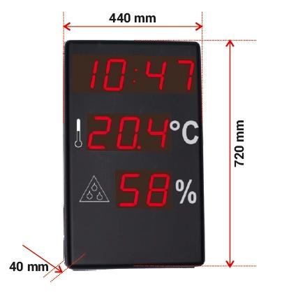 Comprar Reloj de gran formato termómetro e Higrómetro