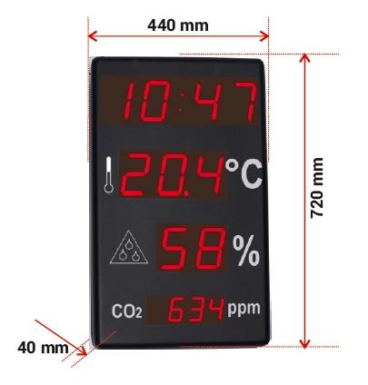 Comprar Reloj de gran formato termómetro e Higrómetro y medidor de CO2