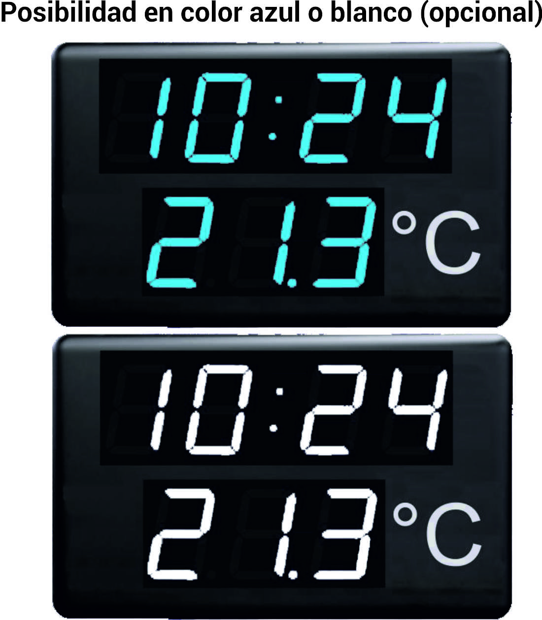 Comprar Reloj y termómetro  de gran formato CRTL22