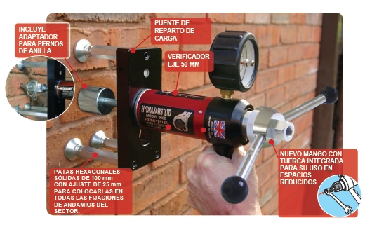 Comprar Kit de extracción para comprobación de fuerza de anclajes y fijaciones de andamios