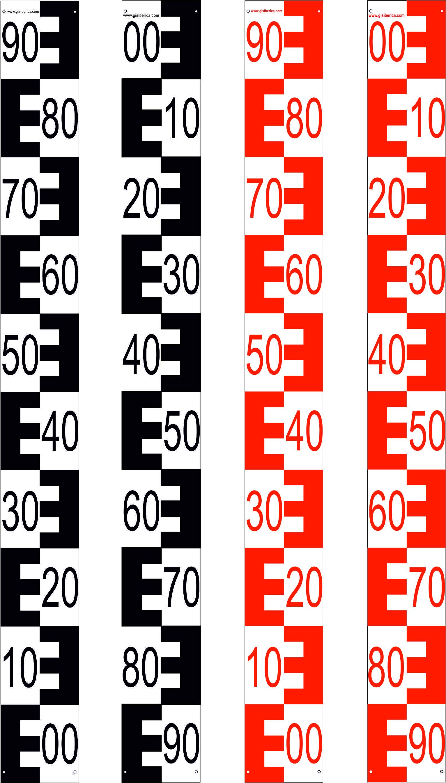 Comprar Escala de PVC 2 capas, L=1m, ancho 15 cm con marca de los dm y graduación en doble