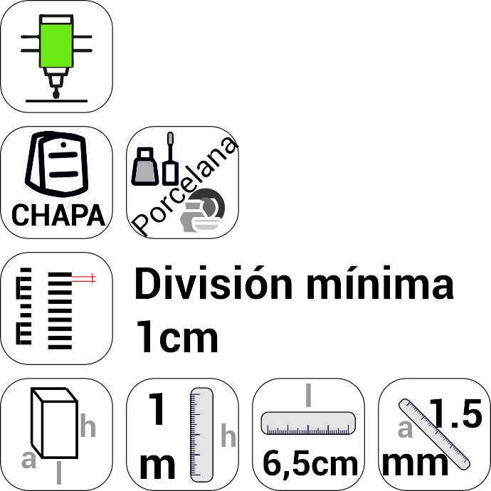 Comprar Escala linmimétrica (escala de mareas), en chapa con esmalte de porcelana (resistente al agua de mar),