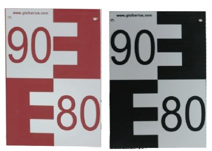 Comprar Escala de PVC 2 capas, L=1m, ancho 10 cm con marca de los dm y graduación en doble