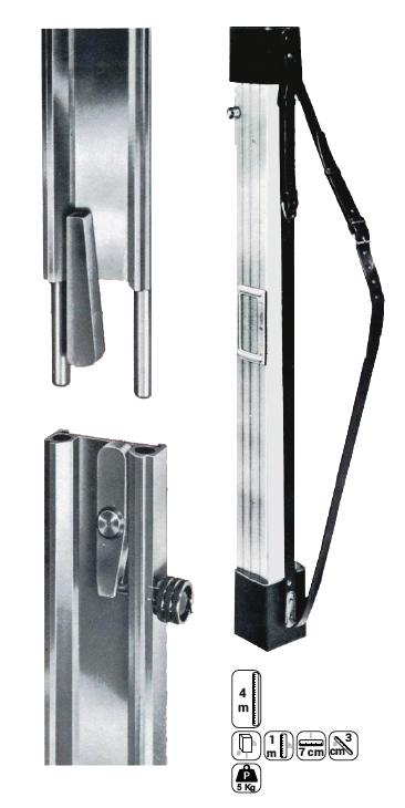 Comprar Mira Metalgraf de 4 metros de aluminio MT101