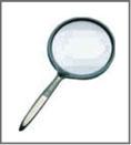 Lupa lente orgánica bifocal (2,5x   5x). Diámetro 5 cm, con mango de  plástico color negro . 496f4be3b9