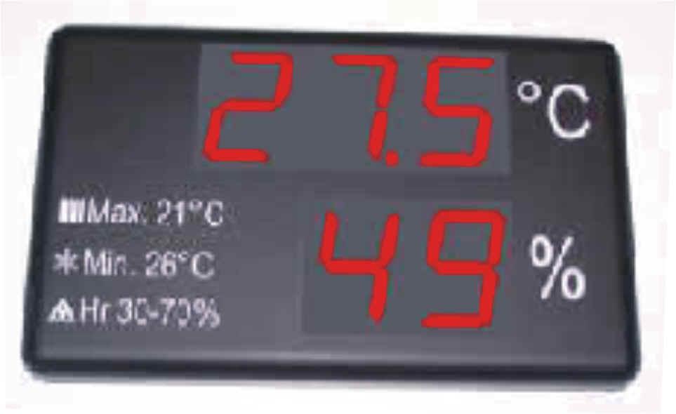 Termohigrometros venta termohigr metros medidores for Medidor de temperatura y humedad digital